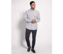 Langarm Hemd Regular Fit weiß/grau