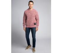 Pullover rot/offwhite meliert