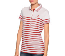 Poloshirt weiß/rot