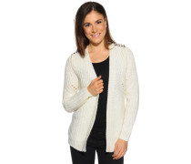 Strickjacke, offwhite, Damen