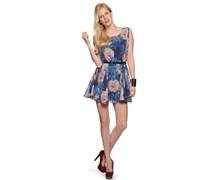 Kleid, blau/rosa, Damen