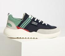 Sneaker navy/grau/mint