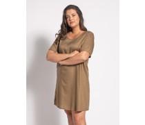 Kleid (große Größe) oliv