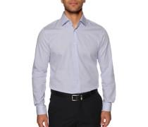 Business Hemd Slim Fit blau/weiß