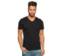 T-Shirt 2er Set, schwarz/weiß, Herren