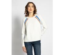Pullover weiß/blau/braun