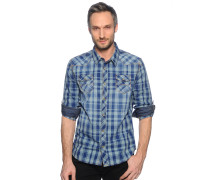 Hemd Regular Fit, blau kariert, Herren