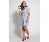 Kleid (große Größe) hellblau
