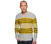 Pullover, gelb/hellgrau, Herren