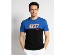 T-Shirt schwarz/blau