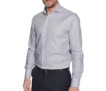 Business Hemd Regular Fit weiß/grau