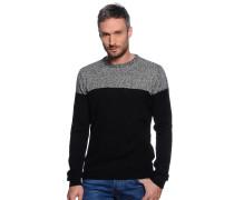 Pullover, schwarz/grau, Herren