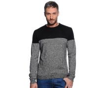 Pullover, grau/schwarz, Herren
