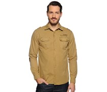 Hemd Regular Fit, beige, Herren