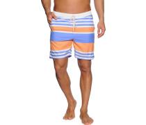 Badeshorts, weiß/blau/orange, Herren