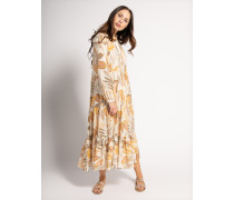 Kleid beige/senf