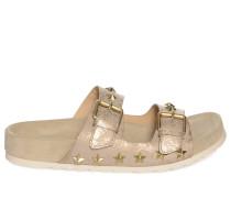 Sandalen, gold/beige, Damen
