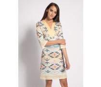 Kleid hellgelb/mehrfarbig