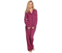 Pyjama Set, aubergine, Damen