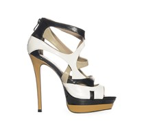 High Heels, schwarz/weiß/beige, Damen