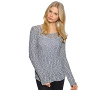 Anni Pullover, blue cream, Damen