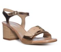 Sandaletten beige/gold