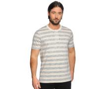 T-Shirt, creme/blau, Herren