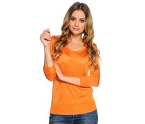 Pullover, orange, Damen