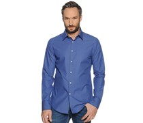 Hemd Custom Fit, blau/hellblau kariert, Herren
