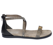 Sandalen, gold/silber, Damen