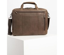 Business Ledertasche dunkelbraun