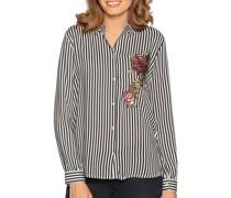 Langarm Bluse schwarz/weiß