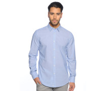 Hemd Regular Fit, blau/weiß gestreift, Herren