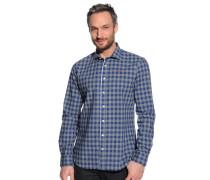 Hemd Custom Fit, blau/grau, Herren