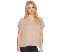 Strickshirt, beige/gold, Damen