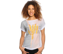 T-Shirt, weiß/multi, Damen