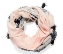 Loopschal, rosa/schwarz, Damen