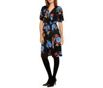 Jerseykleid schwarz/multi