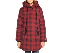 Mantel rot/schwarz