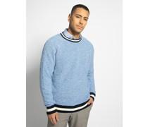 Pullover blau/weiß meliert