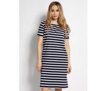 Kleid navy/weiß