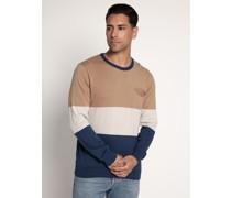 Pullover beige/navy