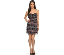 Kleid, schwarz/lila, Damen