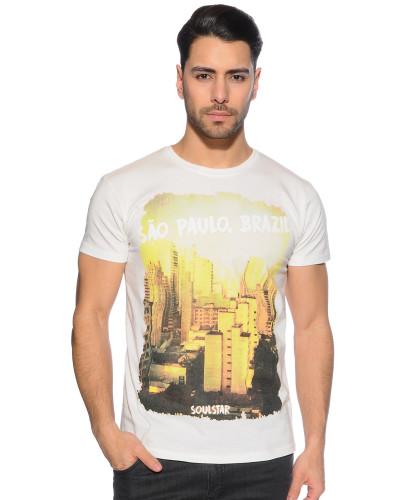 T-Shirt, Weiss, Herren