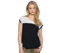 T-Shirt, schwarz/offwhite, Damen