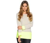 Pullover, beige/neongelb, Damen
