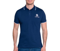 Kurzarm Poloshirt Regular Fit blau