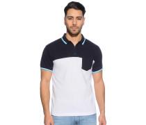 Poloshirt, navy/weiß, Herren