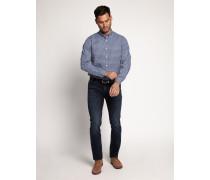 Langarm Hemd Regular Fit blau/hellgrau