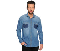 Jeanshemd Regular Fit, Blau, Herren